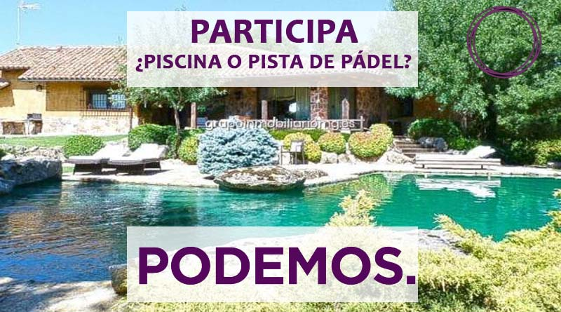 Pablo Iglesias consultará a las bases si deja la piscina o pone pista de padel