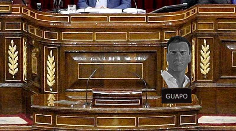 La primera medida de Pedro Sánchez será poner un busto suyo en el Congreso