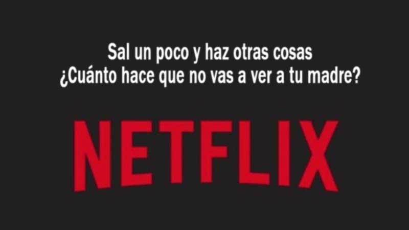 Netflix te pide por favor que salgas un poco y hagas otras cosas