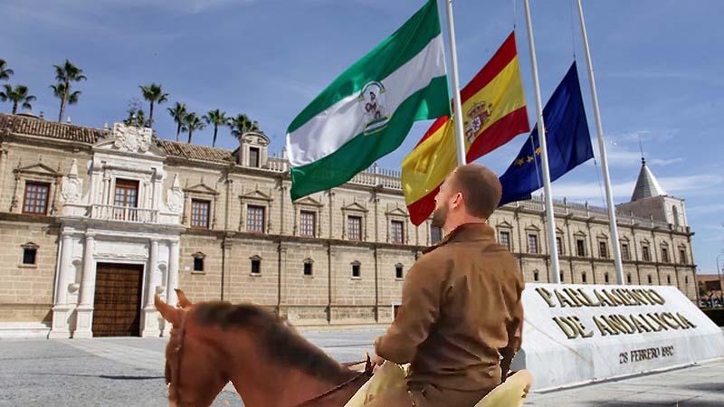 Vox incluye en el acuerdo que Abascal pueda entrar con el caballo al Parlamento Andaluz