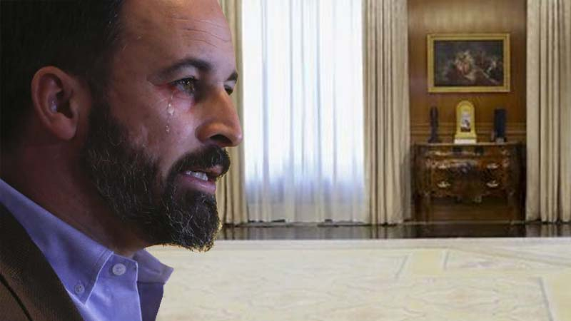 Se suspende la audiencia de Felipe VI con Vox porque Abascal no paraba de llorar