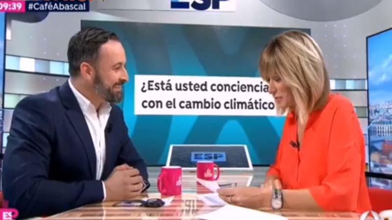 Abascal reconoce que no puede opinar del cambio climático porque él tiene aire acondicionado