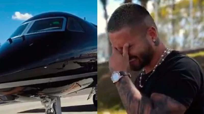 Maluma lloró al ver que su avión privado no estaba lleno de mujeres