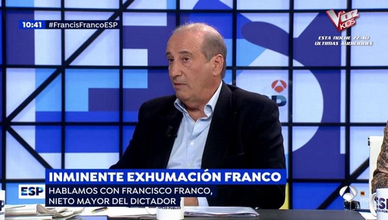 La familia Franco, indignada ahora, al enterarse de lo que significaba exhumación