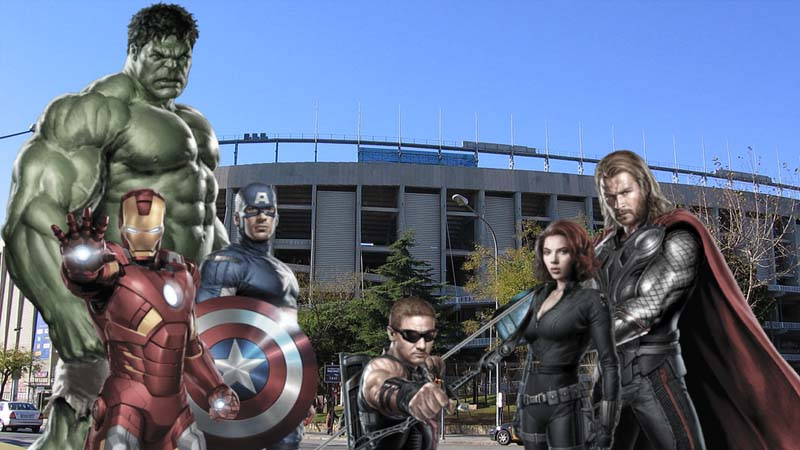 Los Vengadores escoltarán al Real Madrid hasta el Camp Nou