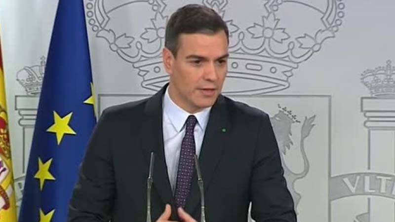 Pedro Sánchez agradece los aplausos que los españoles le dan cada día a las 20:00