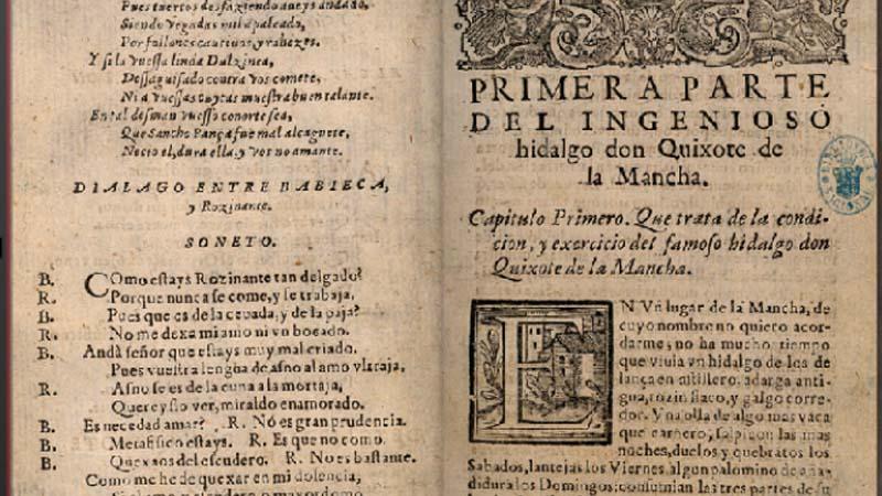 """Se descubre que en la página 350 de El Quijote pone """"tonto el que lo lea"""""""
